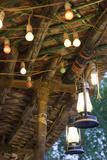 Qatar  Doha  Souq Waqif  Redeveloped Bazaar Area  Cafe Lanterns