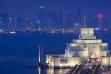 Qatar  Doha  Cityscape at Dusk