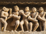 Musicians  Erotic Sculptures of Khajuraho  Madhya Pradesh  India