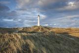 Denmark  Jutland  Danish Riviera  Hvide Sande  Lyngvig Fyr Lighthouse  Dusk