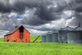 Washington State  Palouse Barn and Silos