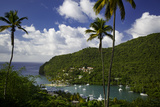 Elevated View of Marigot Bay  St Lucia  West Indies