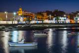 Spain  Canary Islands  Lanzarote  Arecife  Charco De San Gines  Fishing Boats  Dusk