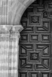 Mexico  Black and White Image of Carved Church Dorr  Guanajuato  Mexico