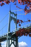 Oregon  Portland  Cathedral Park  St John's Bridge