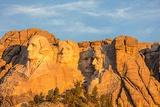 Mount Rushmore at First Light Near Keystone  South Dakota  Usa