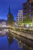 Denmark  Jutland  Aarhus  Canal Side Cafes  Evening