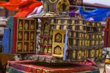 Little Housing Filled with Small Buddha Statues  Paro Tshechu  Bhutan