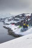 Greenland  Nuuk  City Skyline with Sermitsiaq Mountain