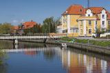 Denmark  Jutland  Grenaa  Buildings Along Canal