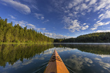 Kayaking on Beaver Lake in the Stillwater State Forest Near Whitefish  Montana  Usa