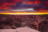 Sunset over Canyon De Chelly  Canyon De Chelly National Monument