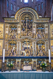 Golden Altar in the Cathedral of Roskilde  Denmark