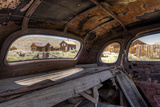 California  Bodie State Historic Park Inside Abandoned Car Looking Out