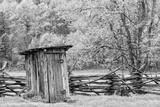 Outhouse  Pioneer Homestead  Great Smoky Mountains National Park  North Carolina
