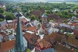 Overlook over Ribe  Denmark's Oldest Surviving City  Jutland  Denmark