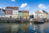 Fishing Boats in Nyhavn  Copenhagen  Denmark