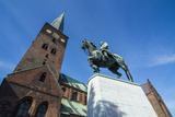 Horse Riding Monument before the Aarhus Cathedral  Denmark