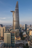 Vietnam  Ho Chi Minh City Elevated City View with Bitexco Tower  Dawn