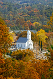 St Sava Serbian Church and Cemetery in Jackson  California Surrounded by Fall Colors