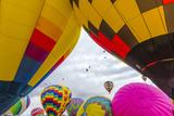 Mass Ascension at the Albuquerque Balloon Fiesta in Albuquerque  New Mexico  Usa