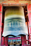 Ancient Red Large Bronze Bell Tower  Beijing  China