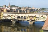Europe  Italy  Florence View of Arno River and Ponte Vecchio