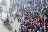 India  Sonepur  Devout Pilgrims Bathing in the Ganges River on Kartik Purnima