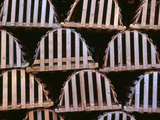 Canada  Newfoundland  Trout River  Tidy Stack of Wooden Lobster Traps