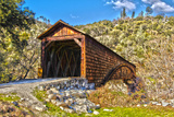 The Beautiful Bridgeport Covered Bridge over South Fork of Yuba River in Penn Valley  California