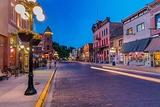 Historic Main Street at Dusk in Deadwood  South Dakota  Usa
