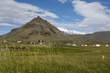 Iceland  Snaefellsnes Peninsula Small Fishing Village of Arnarstapi at the Foot of Mt