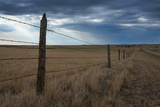 Fence in the Savanah Near the Minuteman Nuclear Missile Site  South Dakota  Usa