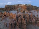 Hoodoo Rock Formations at Goblin Valley State Park  Utah