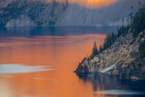 Sunset Colors the Waters at Crater Lake National Park  Oregon  Usa