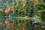 Maine  Acadia National Park  Fall Reflections at Bubble Pond
