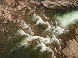 Canada  Aerial View of Waterfall Near Bury Cove Along Hudson Bay