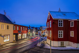 City Center Streets at Dusk in Winter in Reykjavic  Iceland