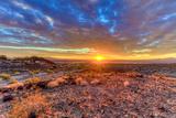 Arizona  Lake Havasu City Sunset on Desert