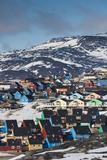 Greenland  Disko Bay  Ilulissat  Elevated Town View