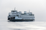 Washington State  Puget Sound Ferry with Dense Fog Bank Limiting Visibility