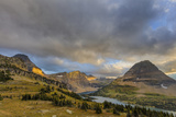 Late Stormy Light Above Hidden Lake at Logan Pass in Glacier National Park  Montana  Usa