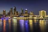 Twilight over the Skyline of Tampa  Florida  Usa