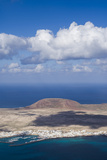 Spain  Canary Islands  Lanzarote  Ye  Elevated View over Isla Graciosa Island