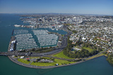 Westhaven Marina and Central Business District  Auckland  North Island  New Zealand