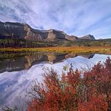 Sofa Mountain with Blueberry Bushes  Waterton Lakes National Park  Alberta