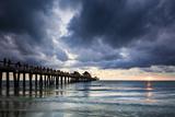 Evening at Naples Pier  Naples  Florida  Usa