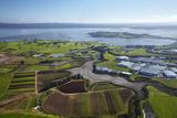 Crops  Oruarangi Creek  and Industrial Area  Mangere  Auckland  North Island  New Zealand