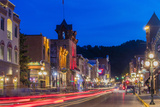 Historic Main Street at Dusk in Deadwood  South Dakota  Usa