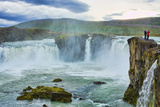 Iceland Godafoss Waterfall in North Central Iceland on Ring Road